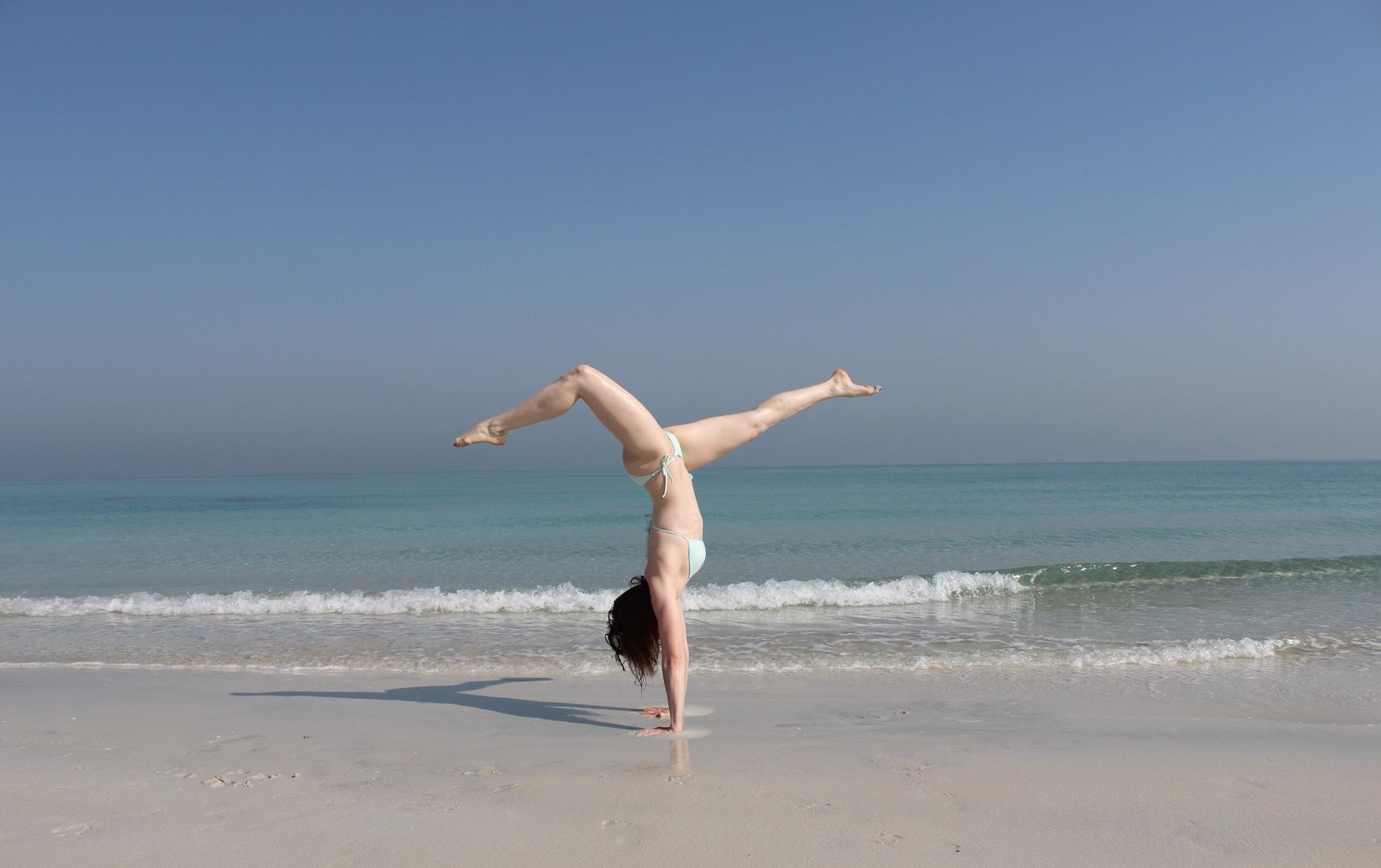Beach Yoga Handstand